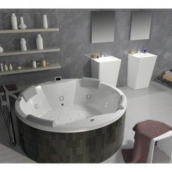 RIHO CARMEN, apvali masažinė vonia
