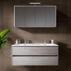 Vonios baldų komplektas Riho Porto Wave su dvigubu praustuvu